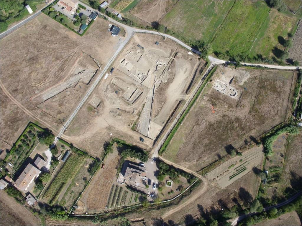 Foto aerea dello scavo